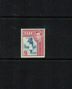 Fiji: 1938, King George VI definitive,£1 lightly hinged mint