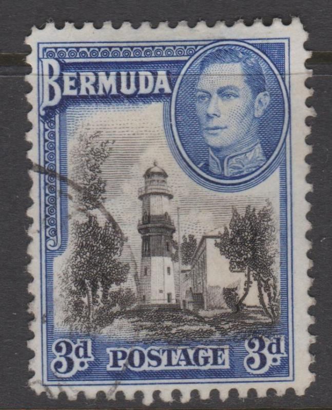 Bermuda 1942 3d St David's Lighthouse Sc#121a Used
