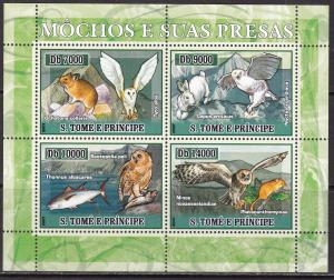 Sao Tome and Principe, Fauna, Birds, Owls, Animals MNH / 2007