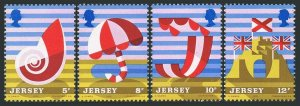 Jersey 124-127,127a,MNH.Michel 119-122,Bl.1. Tourism 1975.Posters:Shell,Umbrella