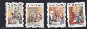 Norfolk Island, # 352-355, Reverend Nobbs Death Centenary, NH, 1/2 Cat.