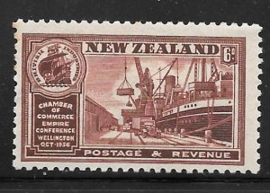 New Zealand 222: 6d Exports, MH, F-VF
