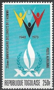 Togo  C209  MNH  UN Human Rights  25th Anniversary