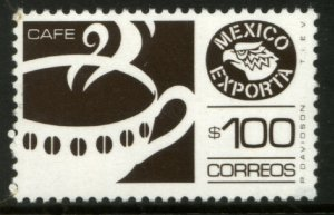 MEXICO Exporta 1470A, $100P Coffee Fosfo Paper 8, Perf 14. MINT, NH. VF.