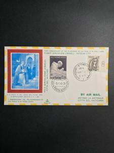 Israel First Flight Cover Jerusalem to Vatican City El Al Air 1965