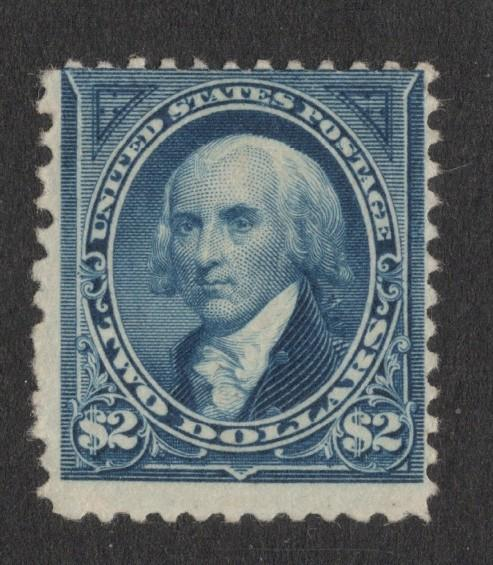 US#262 Bright Blue - Unused - O.G. - w/Cert. - Cat:$2,750.00