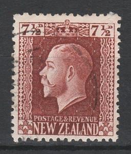 NEW ZEALAND 1915 KGV 71/2D PERF 14 X 14.5