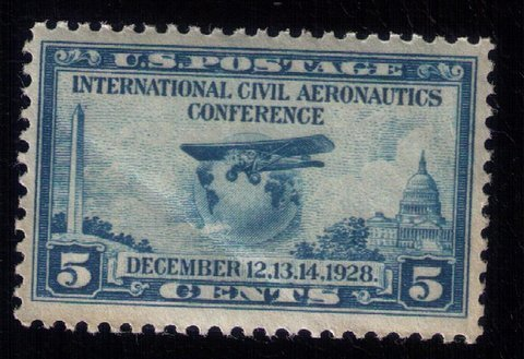 US SCOTT #650 MNH,OG CIVIL AERONAUTICS CONFERENCE1928 VERY FINE
