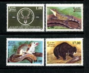 Sri Lanka 1109-1112, MNH, Animals 1994. x22762