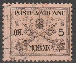Vatican City #1  F-VF Used  (S9766)