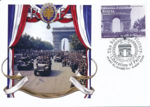 [96861] Bequia 2005 WWII Liberation Paris Special Cachet Cover