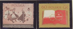 Poland Stamps Scott #740 To 741, Mint Lightly Hinged - Free U.S. Shipping, Fr...