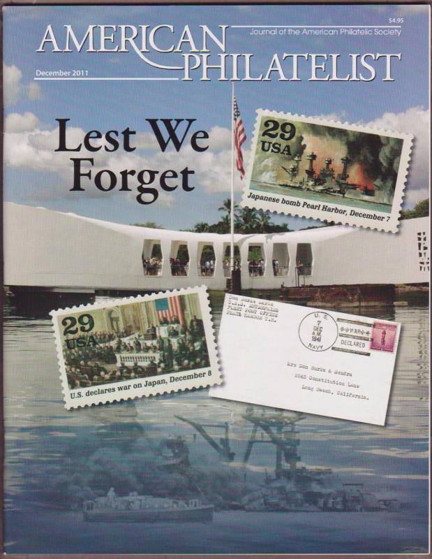 APS Magazine Dec 2011 , Lest We Forget / Pearl Harbor - I Combine S/H
