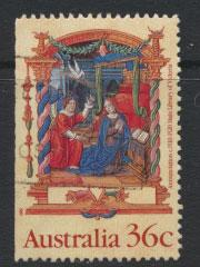 SG 1225  SC# 1159 Used  from booklet left margin imperf  - Christmas