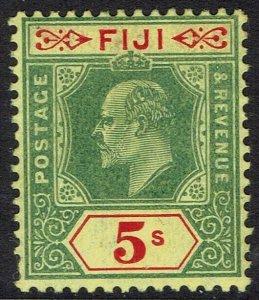FIJI 1906 KEVII 5/-