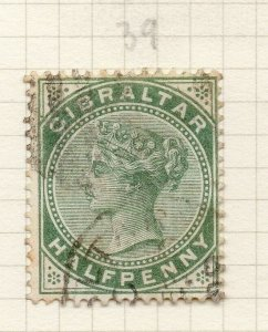 Gibraltar 1898 Early Issue Fine Used 1/2d. 276259