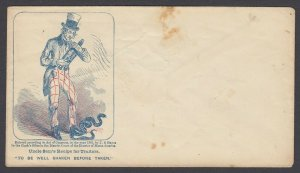 Civil War Patriotic unused cover - Uncle Sam's Recipe for Traitors