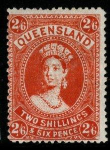 QUEENSLAND SG270 1903 2/6 VERMILION MTD MINT