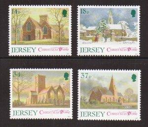 Jersey  #549-552  MNH  1990  Christmas  Parish churches