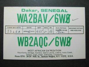 5370 Amateur Radio QSL Card Dakar Senegal DX Pedition