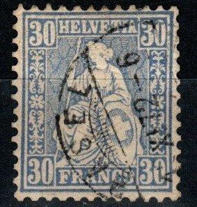 Switzerland #56 F-VF Used CV $16.00  (X9754)