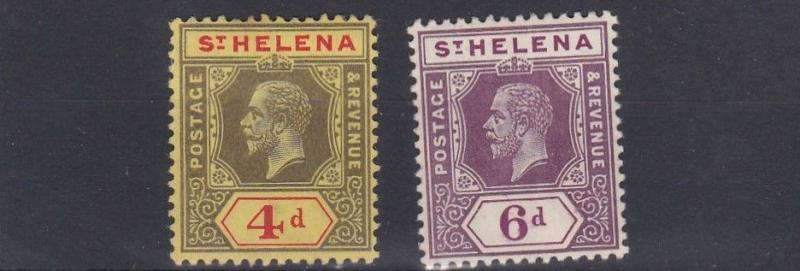 ST HELENA  1912     S G  83 - 84          SET OF 2      MH