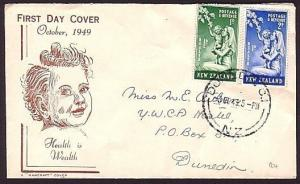 NEW ZEALAND 1949 Health commem FDC.........................................30785