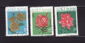 North Vietnam 718, 720-721 U Flowers