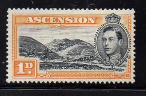 Ascension Sc 41Ac 1d Green Mountain & G VI perf 13 1/2 stamp mint