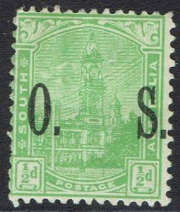 SOUTH AUSTRALIA 1899 GENERAL POST OFFICE OS 1/2D