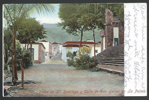 SPAIN TO SIERRA LEONE 1906 postcard ex Las Palmas, Freetown arrival cds....56984