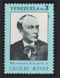Venezuela Death Centenary 1981 of Cecilio Acosta statesman 1v SG#2470 SC#1266F