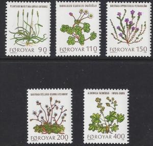 Faroe Islands #48-52; Fauna, various plants
