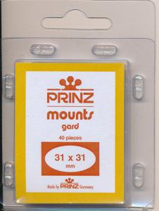 Prinz Stamp Mounts Size 31/31 BLACK Pack of 40 CELEBRATE THE CENTURY