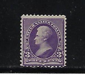 US #221 1890-93 ANDREW JACKSON 3C (PURPLE)   MINT LIGHT  HINGED