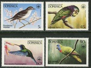 DOMINICA Sc#827-830 1984 Local Birds Complete Set OG Mint NH