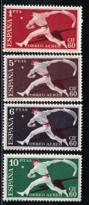 Spain  C163-C166  Jai Alai   1960    MH Scv  $ 19.00