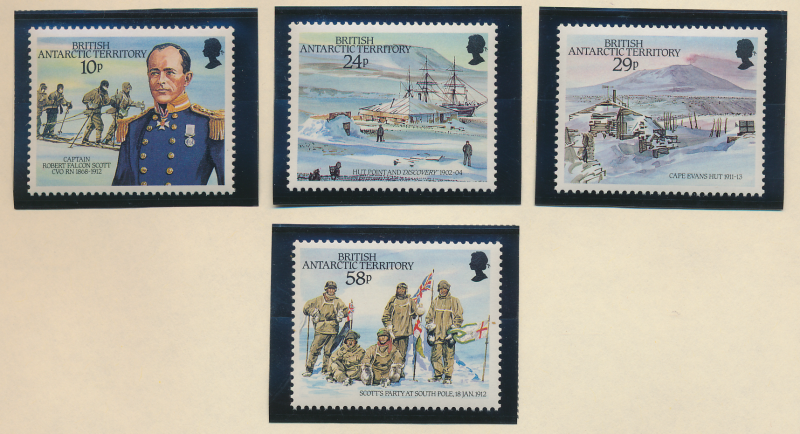 British Antarctic Territory (B.A.T.) Stamps Scott #137 To 140, Mint Never Hin...