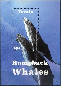 Tuvalu. 2015. Humpback Whales (MNH OG) Souvenir Sheet
