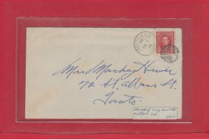 LATE USE OF 7 RING CANCEL MAITLAND Ont. 1939 Canada cover