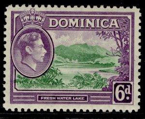 DOMINICA GVI SG105, 6d emerald green & violet, M MINT.