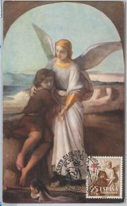 59082  -  SPAIN - POSTAL HISTORY: MAXIMUM CARD 1958  - ART medicine TUBERCULOSIS