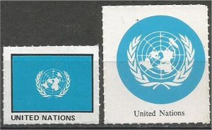UNITED NATIONS mint, Flag and Coat of Arms (no gum)
