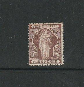 Br Virgin islands 1899 4d FU SG 46