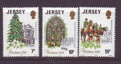 Jersey Sc 282-4 1981 Christmas stamps NH