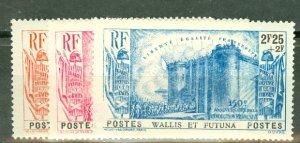 P: Wallis & Futuna B1-5 MNH, few toned perfs in B1 CV $150