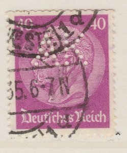 Perfin Germany Stamp Used A20P14F931