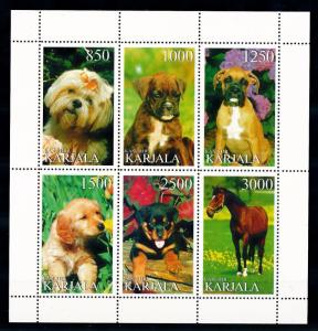 [62291] Karjala Private Issue  Dogs Sheet MNH