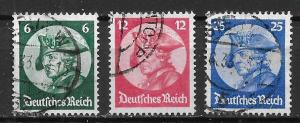 Germany 398-400 Frederick the Great set Used (z4)