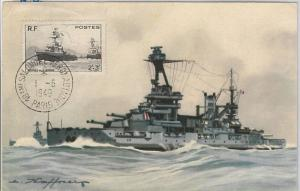 SHIPS boats  - FRANCE  : MAXIMUM CARD 1949
